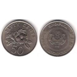 (53.1) Singapur. 1988. 50 Cents (EBC)