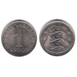 (28) Estonia. 1995. 1 Kroon (SC)