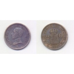 Alfonso XIII. 1911*(11). 2 Céntimos (MBC) Ceca de Madrid PC-V