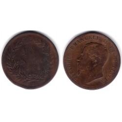(11.1) Italia. 1866(M). 10 Centesimi (BC)