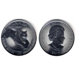 Canada. 2017. 5 Dollars (SC) (Plata)