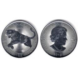 Canada. 2016. 5 Dollars (SC) (Plata)