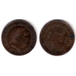 Carlos VII. 1875. 10 Céntimos (BC) Ceca de Bélgica