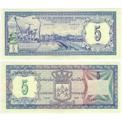 (15b) Antillas Neerlandesas. 1984. 5 Gulden (SC)