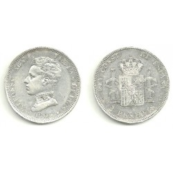 Alfonso XIII. 1905*(19-05). 2 Pesetas (MBC) (Plata) Ceca de Madrid SM-V