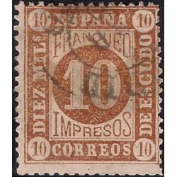 (94) 1867. 10 Milesimas de Escudo. Cifras (Usado)