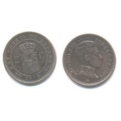 Alfonso XIII. 1905*(05). 2 Céntimos (EBC) Ceca de Madrid SM-V