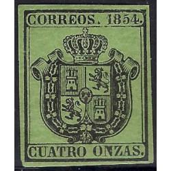 (30) 1854. 4 Onzas. Escudo de España (Nuevo, con marca de fijasellos)