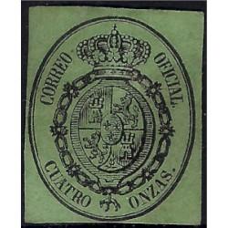 (37) 1855. 4 Onzas. Escudo de España (Nuevo, sin goma)
