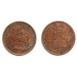 Alfonso XIII. 1905*(05). 2 Céntimos (BC) Ceca de Madrid SM-V