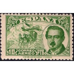 (990) 1945. 10 Pesetas. Conde de San Luis (Nuevo, con marca de fijasellos)