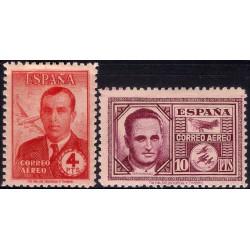 (991 a 992) 1945. Serie Completa. Haya y García Morato (Nuevo, con marca de fijasellos)