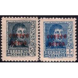 (845 a 846) 1938. Serie Completa. Fernando el Católico (Nuevo, con marca de fijasellos)