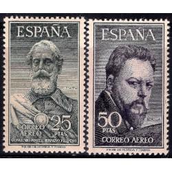 (1124 a 1125) 1953. Serie Completa. Legazpi y Sorolla (Nuevo, con marca de fijasellos)