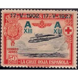 (370) 1927. 50 Céntimos. XXV Aniv. Jura Const. Alf XIII (Nuevo, con marca de fijasellos)