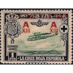 (371) 1927. 1 Peseta. XXV Aniv. Jura Const. Alf. XIII (Nuevo, con marca de fijasellos)
