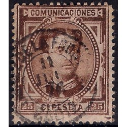 (177) 1876. 25 Céntimos. Alfonso XII (Usado)