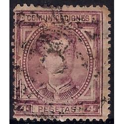(181) 1876. 4 Pesetas. Alfonso XII (Usado)