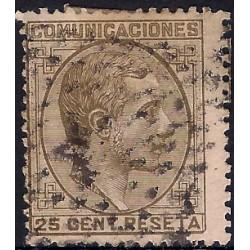 (194) 1878. 25 Céntimos. Alfonso XII (Usado)