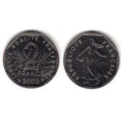 (942.1) Francia. 2000. 2 Francs (SC)