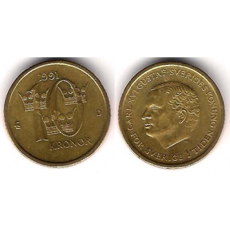 (877) Suecia. 1991. 10 Kroner (EBC)