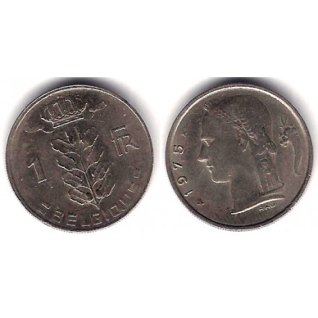 (142.1) Bélgica. 1975. 1 Franc (MBC)