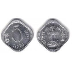 (18.6) India. 1974. 5 Paise (SC)