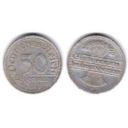 (27) Imperio Alemán (Weimar). 1920(A). 50 Pfennig (BC)