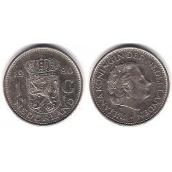 (184a) Países Bajos. 1980. 1 Gulden (MBC)
