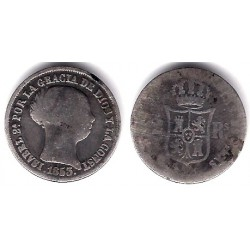 Isabel II. 1853. 2 Reales (RC) (Plata) Sin Ceca Visible