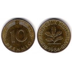 (108) Alemania. 1984(J). 10 Pfennig (MBC)