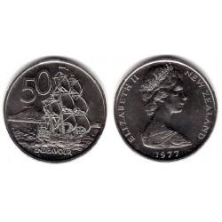 (37.1) Nueva Zelanda. 1977. 50 Cents (SC)