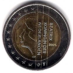 Países Bajos. 2001. 2 Euro (SC)
