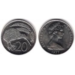 (36.1) Nueva Zelanda. 1977. 20 Cents (SC)