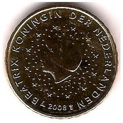 Países Bajos. 2008. 10 Céntimos (SC)