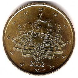 Italia. 2002. 50 Céntimos (SC)