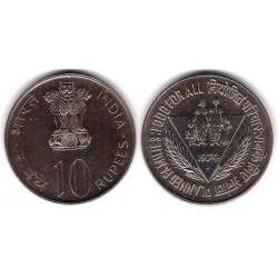 (189) India. 1974. 10 Rupees (EBC+)