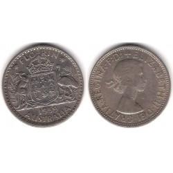 (60) Australia. 1959. 1 Florin (MBC) (Plata)