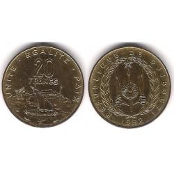 (24) Djibouti. 1982. 20 Francs (EBC+)