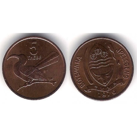 (4) Botswana. 1976. 5 Thebe (SC)
