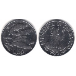 (45) San Marino. 1975. 50 Lira (SC)