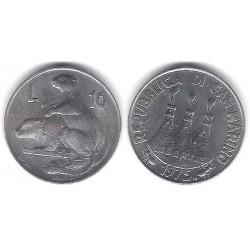 (43) San Marino. 1975. 10 Lira (SC)