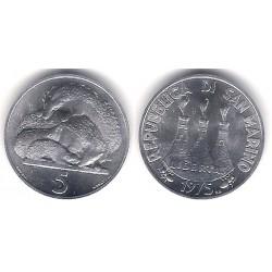 (42) San Marino. 1975. 5 Cents (SC)