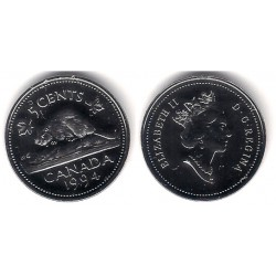 (182) Canadá. 1994. 5 Cents (Proof)
