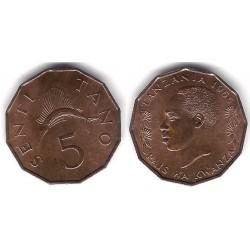(1) Tanzania. 1966. 5 Tano (SC)