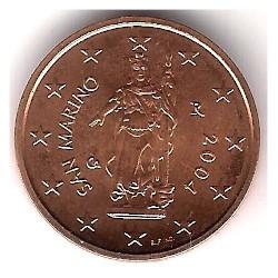 San Marino. 2004. 2 Céntimos (SC)
