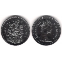 (75.3) Canadá. 1987. 50 Cents (Proof)