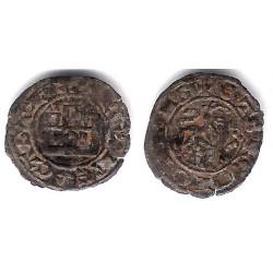 Alfonso X. 1252-1284. Maravedi Prieto (BC+) Sin Marca de Ceca