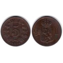 (349) Noruega. 1896. 5 Ore (MBC)