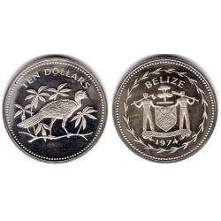 (45) Belice. 1974. 10 Dollars (SC)